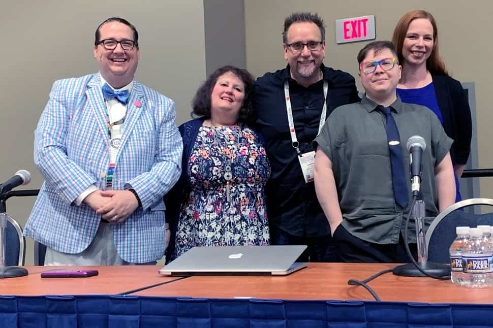 Panelists (from left) Kyle K. Courtney, Janie Hernan, Carson Block, Djaz F. Zulida, and Emily Clasper