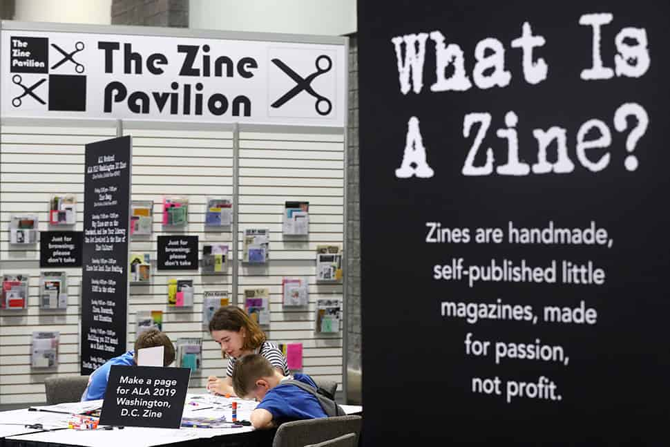 The Zine Pavilion at the 2019 ALA Annual Conference.
