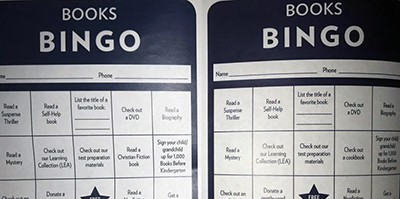 DeKalb County Public Library's Books Bingo cards, before (left) and after the genre change