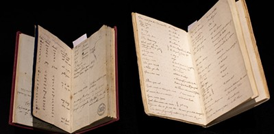 Dawes Notebooks. Photo by Joy Lai / State Library of NSW