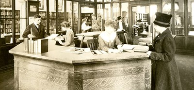 Interior of former branch at 1215 East 79th Street, Cleveland