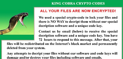 Encryption ransomware
