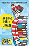 San Diego Public Library's 50th anniversary Comic-Con card