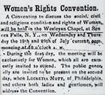 Women's Rights Convention. Announcement in Seneca County (N.Y.) Courier, July 14, 1848