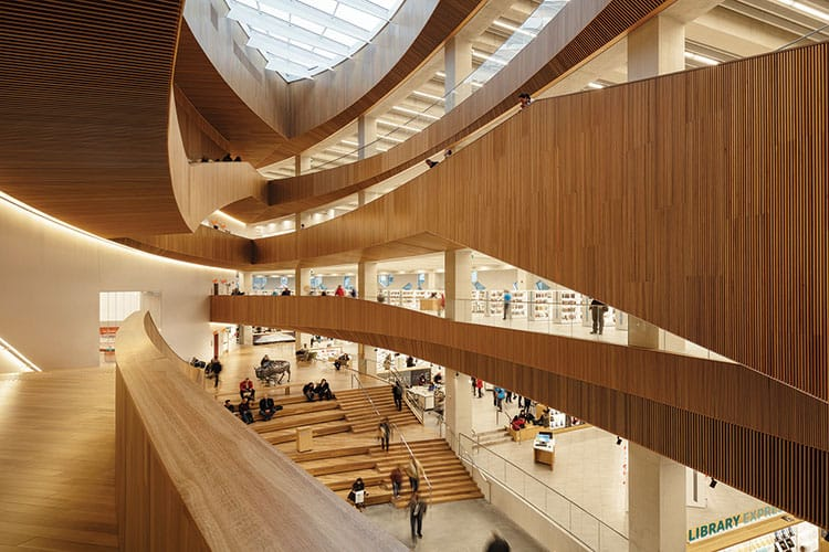 Calgary (Alberta) Public Library, Central LibraryArchitect: Snøhetta and DialogPhoto: Michael Grimm