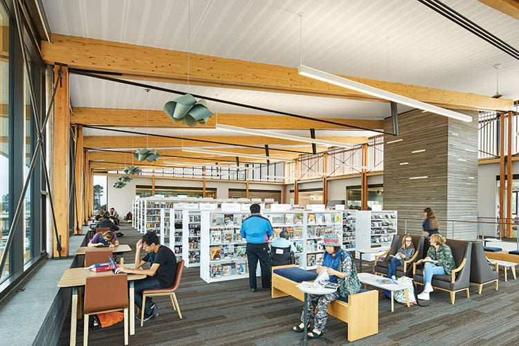 San Mateo County (Calif.) Libraries, Half Moon Bay branchArchitect: Noll and Tam ArchitectsPhoto: Anthony Lindsey Photography