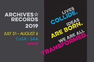Society of American Archivists Archives*Records 2019 Conference logo