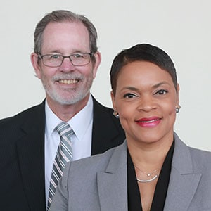 Richard White, chair of TCCL library commission, and Kimberly Johnson, CEO of TCCL