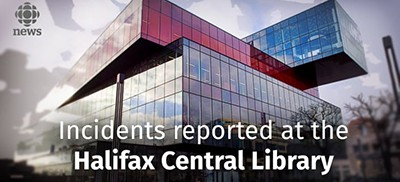 Incidents reported at the Halifax Central Library
