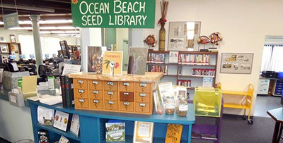 Seed library at Ocean Beach branch of San Diego Public Library. Photo by Enrique Gili