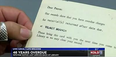 Overdue postcard sent in 1973