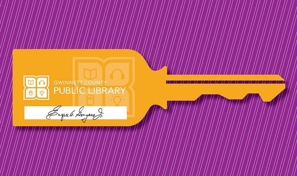 """""""key"""" with Gwinnett County (Ga.) Public Library logo"""