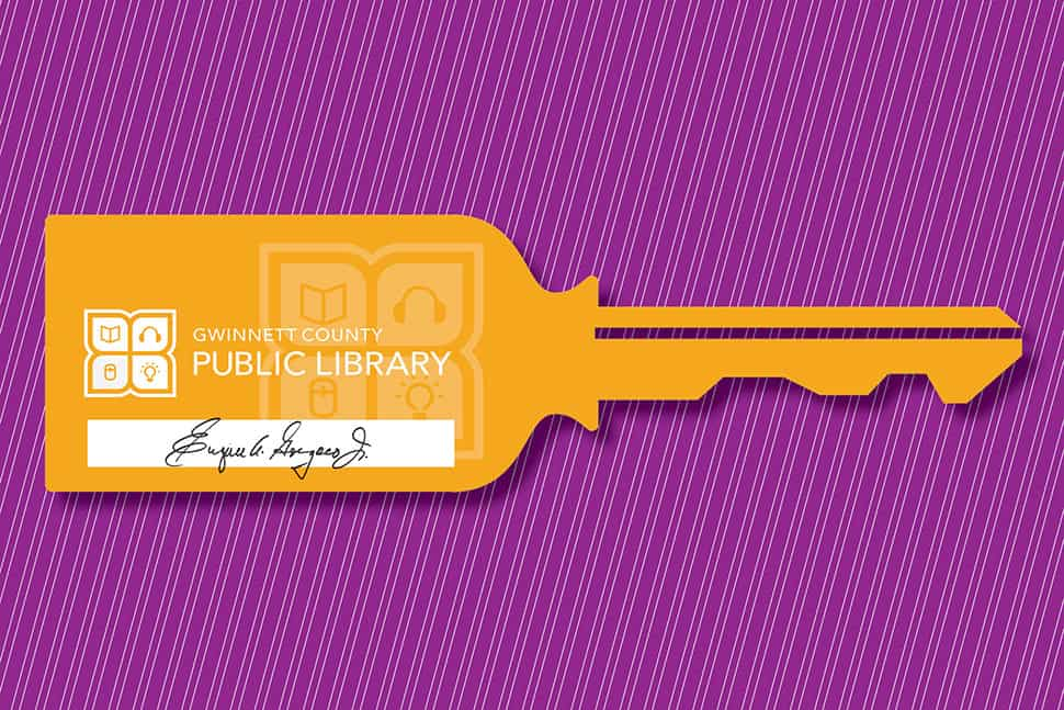 """key"" with Gwinnett County (Ga.) Public Library logo"