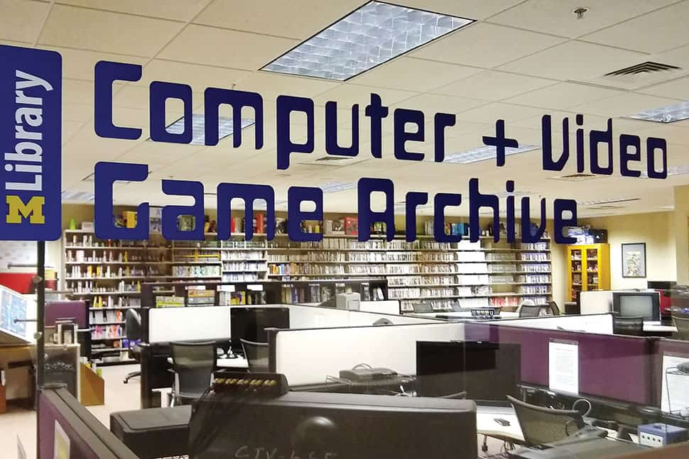 The University of Michigan's Computer and Video Game Archive. Photo: Alan Pinon
