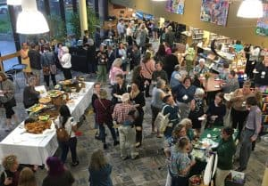A welcome reception for ARSL conference attendees was held September 4 at Fletcher Free Library in Burlington, Vermont. (Photo: Margot Malachowski)