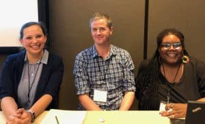 Madeline Jarvis, David Paige, and Veronda Pitchford (Photo: Jamie Santoro)