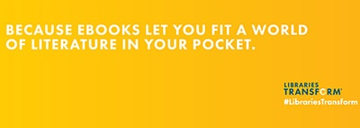 Because ebooks let you fit a world of literature in your pocket
