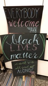 A Black Lives Matter display during Black History Month drew controversy at Pikes Peak Library District in Colorado Springs, Colorado.