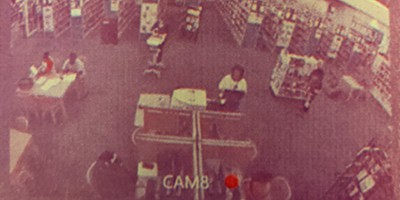 The Gwinnett County (Ga.) Public Library Lawrenceville branch is monitorfed through security footage during unstaffed morning hours via the Open+ automated system