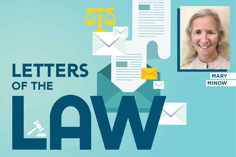 Graphic: Letters of the Law with Mary Minow