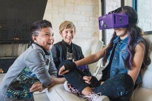 The MERGE Headset adapts smartphones into VR viewers with access to games, 360-degree video, and educational content.