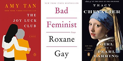 Books by TED Talks authors Amy Tan, Roxane Gay, and Tracy Chevalier