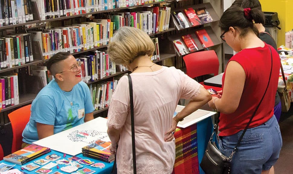 San Antonio Public Library hosted the third annual San Anto Zine Fest in October. In 2018, the fest welcomed more than 1,000 attendees. Photo: Mari Hernandez