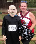 Colten Vestal and Carrie Vestal ran in costume in the Jonesville Monster Dash