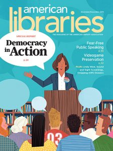 Cover of American Libraries Magazine November/December 2019
