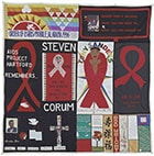 One block of the AIDS Memorial Quilt