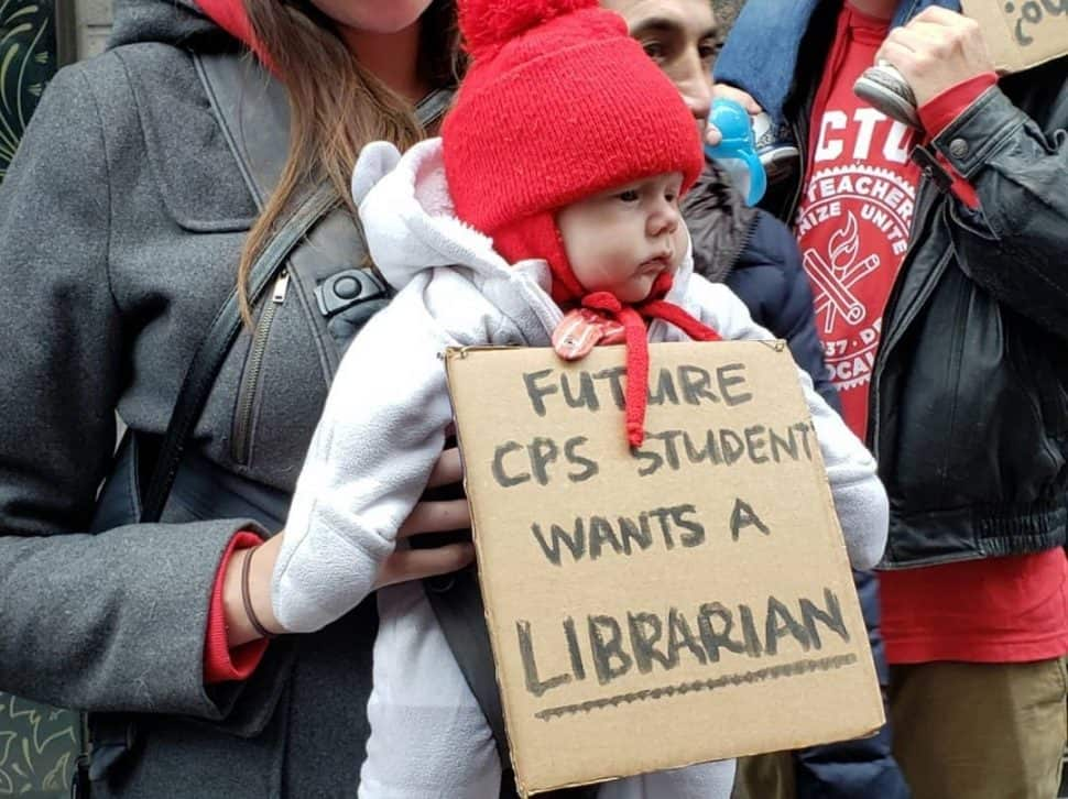 All ages picketed in support of the Chicago Teachers Union during the recent walkout.