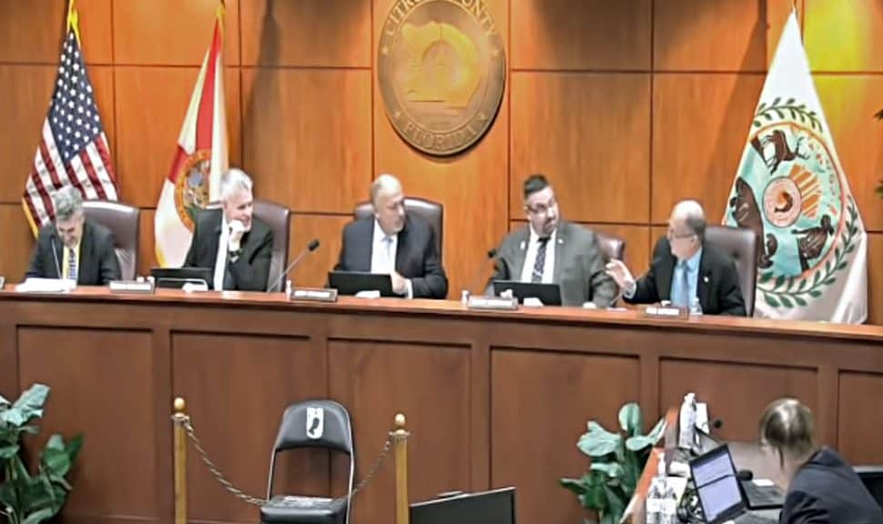Screenshot from the October 24 Citrus County (Fla.) Board of Commissioners meeting