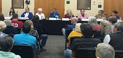 Citrus County (Fla.) Library board meeting, November 14. Photo by Spectrum News
