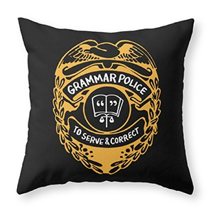 To Serve and Correct Throw Pillow (Photo: Society6)