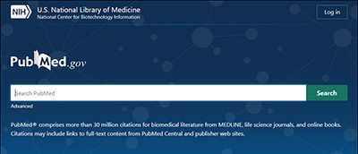 New PubMed opening page