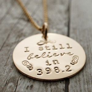 I Still Believe in 398.2 Necklace (Photo: Wendy Atkinson)