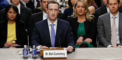 Facebook CEO Mark Zuckerberg testifies before Congress on October 23