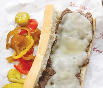 Cheesesteak at Tony Luke's. Photo: Visit Philadelphia.