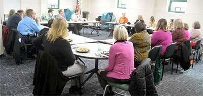 The first meeting of the community resource group at the Edwardsville (Ill.) Public Library