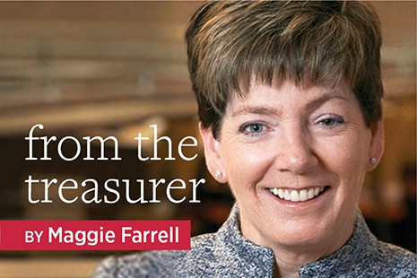 From the Treasurer: Maggie Farrell
