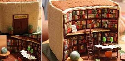 Kathy Klaus's Library Cake