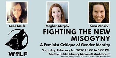 """Fighting the New Misogyny"" event scheduled for February 1 at the Seattle Public Library's auditorium"