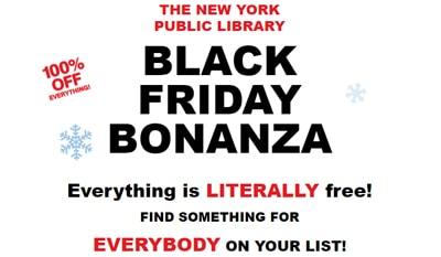 NYPL Black Friday email