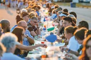 Howard County (Md.) Library System's Longest Table 2019, held at Howard Community College on September 21, drew 231 guests. (Photo: Geoffrey S. Baker/Howard County Library System)
