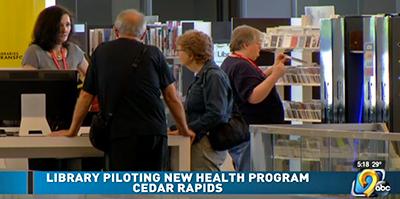 Cedar Rapids (Iowa) Public Library. Screenshot from newscast