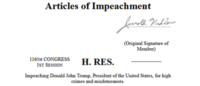 Articles of Impeachment, from The Impeachment Papers