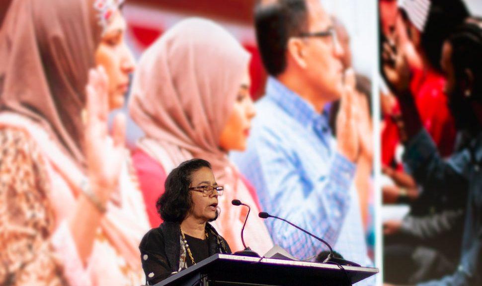 Homa Naficy at the 2020 I Love My Librarian Award Ceremony