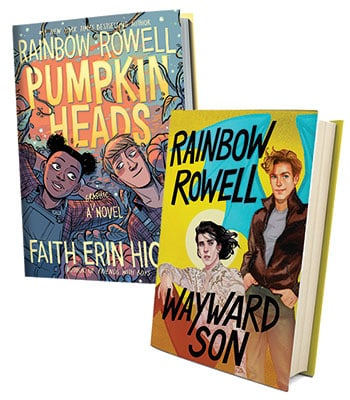 Covers of Rainbow Rowell's Pumpkinheads and Wayward Son