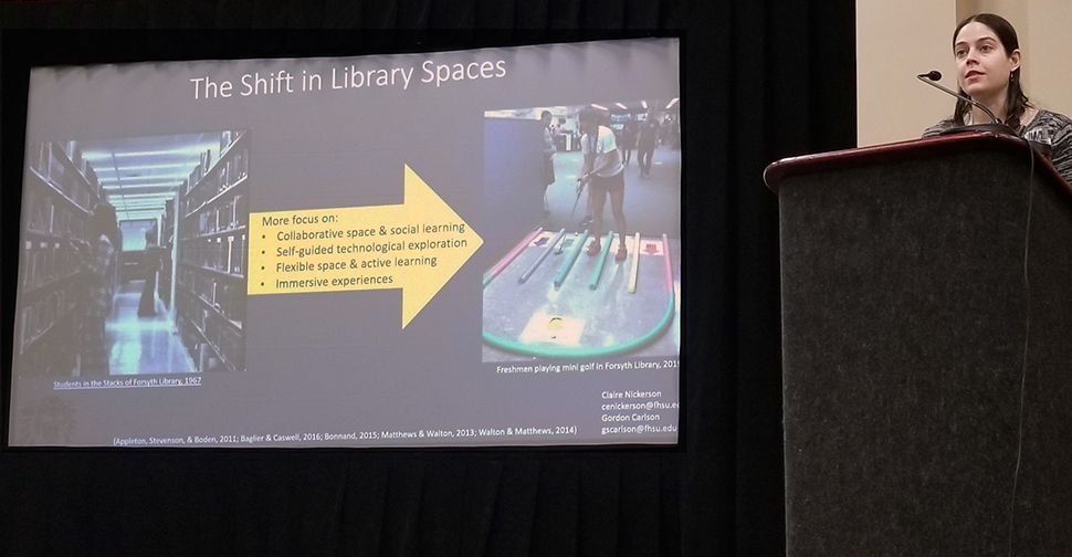 Claire Nickerson, learning initiatives and open educational resources librarian at Fort Hays (Kans.) State University, discusses evolving library spaces.