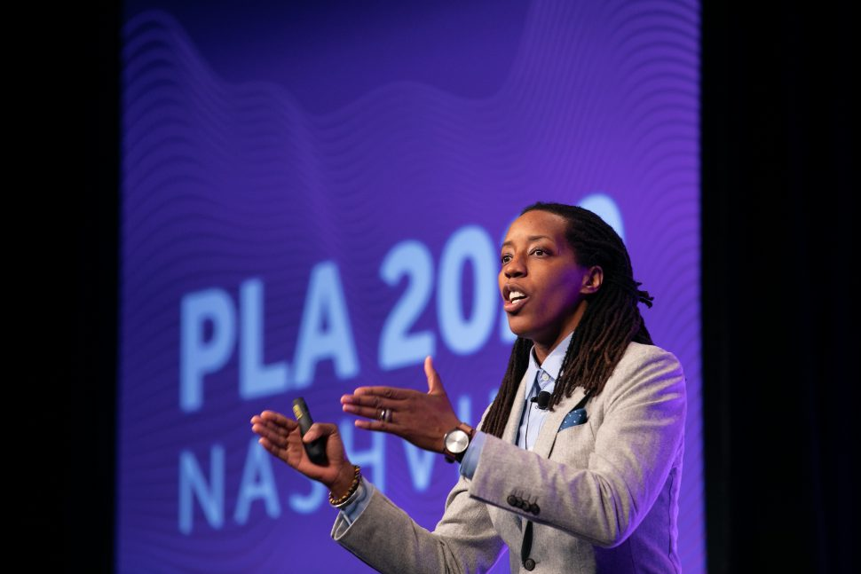 Author and education professor Bettina Love brings big ideas to the Public Library Association 2020 Conference in Nashville February 27. (Photo: Laura Kinser/Kinser Studios)